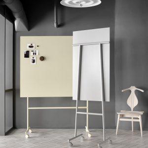 Tableau Affichage Lintex : Wood tableau blanc/ beige mobile
